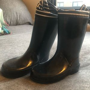 Cat & Jack Black Kids Rain Boots - size 9/10